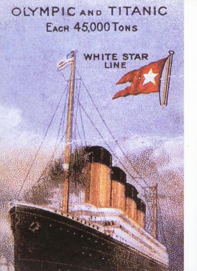 RMS Titanic -First Class menu